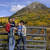 family photo in crested butte...our favorite mountain town in colorado!