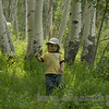a happy hiker memory. he was so funny stumbling about the trails of crested butte with his spf 30 hat on.